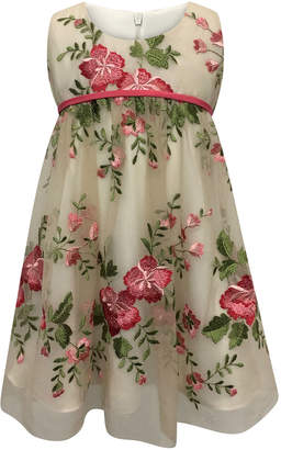 Helena Floral Embroidery Lace Dress Size 7-14