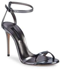 Casadei Barbarella Leather Ankle-Strap Sandals