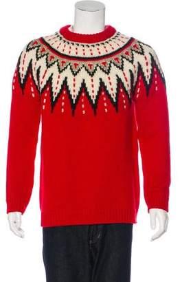 Saint Laurent 2016 Fair Isle Wool Sweater w/ Tags
