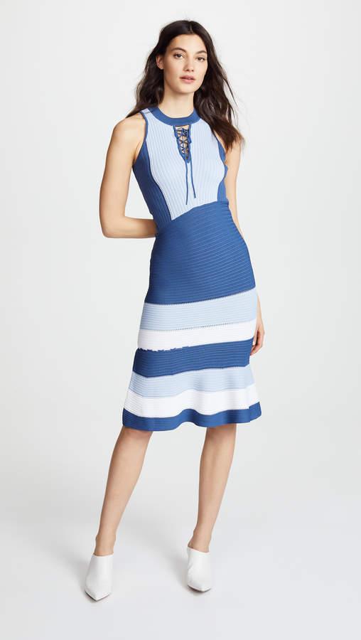 Linked Rib Asymmetric Dress