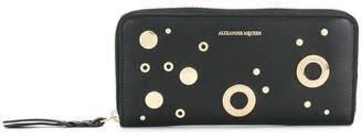 Alexander McQueen eyelet and stud wallet