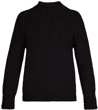 Inis Meáin Inis Meain - Cable Knit Wool Jumper - Mens - Black