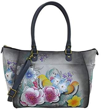 Anuschka Anna by Genuine Leather Large Tote Shoulder Bag | Hand Painted Original Artwork |