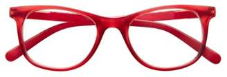 ICU Eyewear Screen Vision Curve Oval Red Glasses
