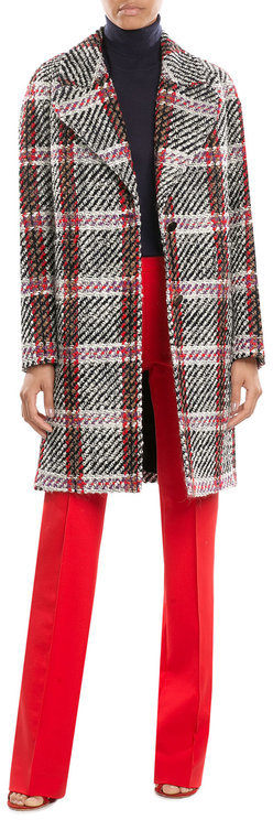 Carven Carven Printed Virgin Wool Coat