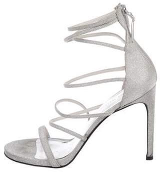 Stuart Weitzman Glitter Strap Sandals
