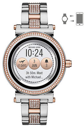 Michael Kors Sofie Pave Two-Toned Smartwatch
