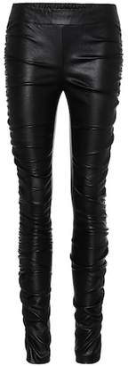 The Row Orshen leather trousers