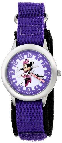 Disney Kids' W000037 Minnie Mouse Stainless Steel Time Teacher Watch