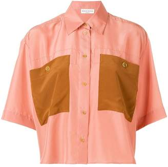 Sonia Rykiel contrast pocket shirt