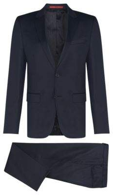 HUGO Boss Wool Suit, Slim Fit Aeron/Hamen 44L Dark Blue