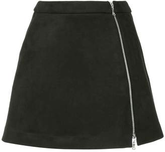 GUILD PRIME zip front mini skirt