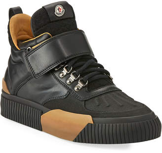 Moncler Cyprien Leather Hiking Boot Black