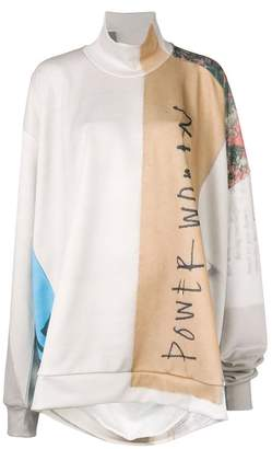 Marques Almeida Marques'almeida slogan colour-block sweater
