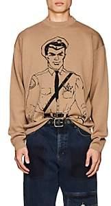 J.W.Anderson Men's Policeman Merino Wool Sweater - Beige, Tan