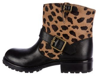 Marc by Marc Jacobs Ponyhair Moto Ankle Boots