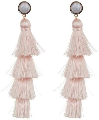 BaubleBar Gabriela Marble Tassel Earrings