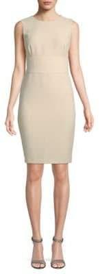Donna Karan Textured Sleeveless Sheath Dress