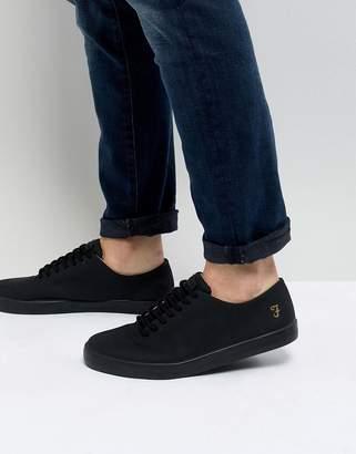 Farah Kiln Logo Sneakers in Black