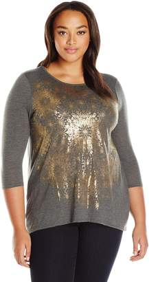 Lucky Brand Women's Plus Size Circle Tee