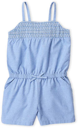 Nautica Toddler Girls) Smocked Chambray Romper