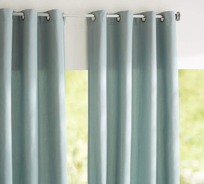 Sunbrella®; Solid Indoor/Outdoor Grommet Drape - Spa