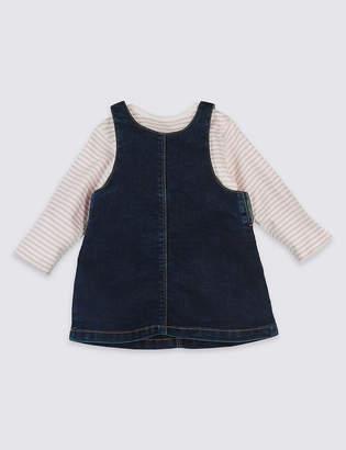 Marks and Spencer 2 Piece Frill Pocket Denim Dress