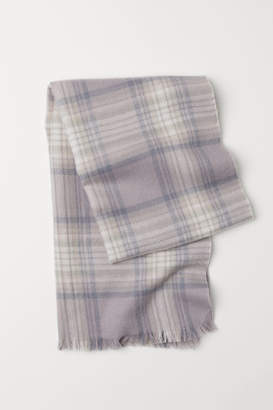 H&M Checked Scarf - Gray