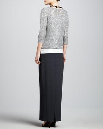 Eileen Fisher Linen Jersey Shimmer Tank