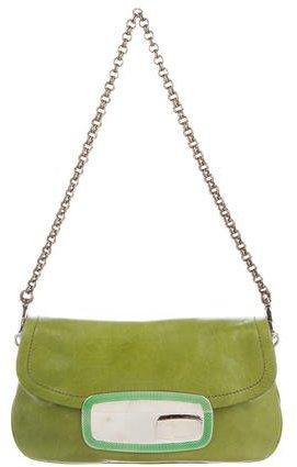pradaPrada Leather Shoulder Bag