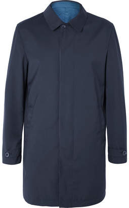 Canali Reversible Super 150s Wool-Twill And Shell Raincoat