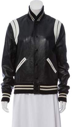 Saint Laurent 2016 Teddy Leather Jacket w/ Tags