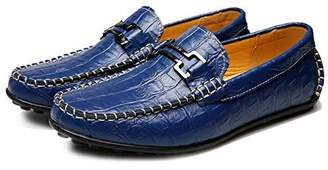 Leroy Alexis Men's Leather Flats Slip On Driving Casual Loafers Boat Shoes