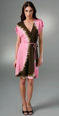 Diane von Furstenberg Pelego Tie-Dye Wrap Dress