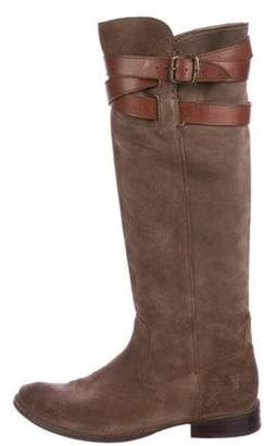Frye Suede Knee-High Boots Brown Suede Knee-High Boots
