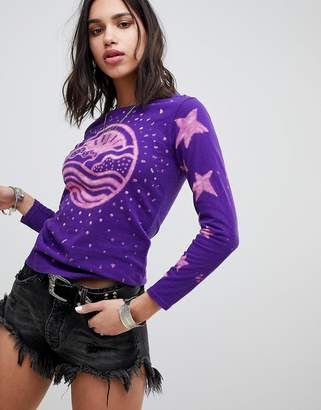 Anna Sui Rising Sun Long Sleeve T-shirt
