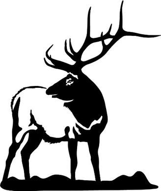 Express Yourself Products Looking Back Bull Elk Wall Decal ( -Facing as Shown- XL) - Big Game Collection