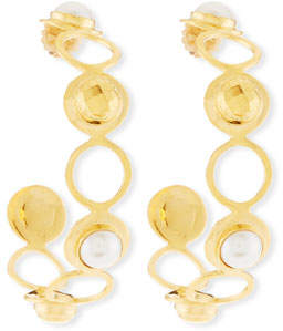 Devon Leigh Pearly Hoop Earrings