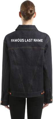 Famous Last Name Japanese Denim Jacket