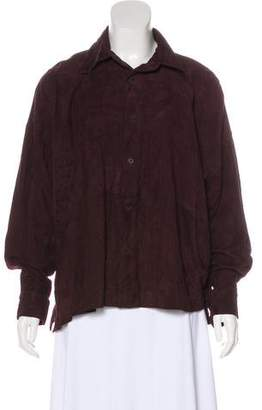 eskandar Suede Leather Button-Up w/ Tags
