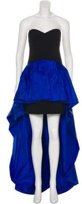 Michael Kors Strapless Virgin Wool Gown