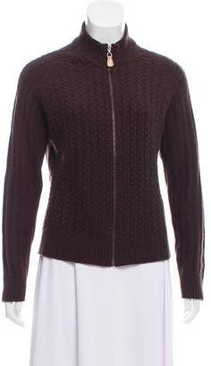 Neiman Marcus Cashmere Cable Knit Sweater