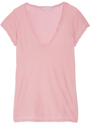 James Perse - High Gauge Cotton-jersey T-shirt - Baby pink $85 thestylecure.com
