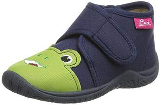 Beck Boys' Frog Low-Top Slippers,5 UK