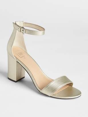 Gap Metallic Block Heel Sandals