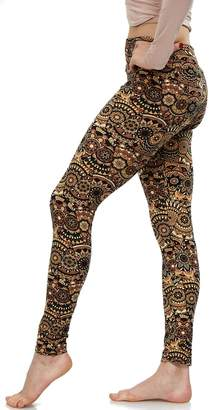 Lush LMB Moda Extra Soft Leggings with Designs- Variety of Prints Yoga Waist - 771YF