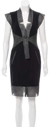 Chanel Short Sleeve Knee-Length Dress