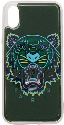 Kenzo Green 3D Tiger Logo iPhone X/XS Case