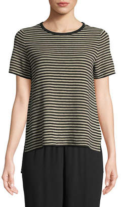 Eileen Fisher Striped High-Low Sweater, Petite