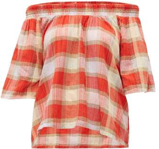 Ace&Jig Marisol Plaid Cotton Top - Womens - Red